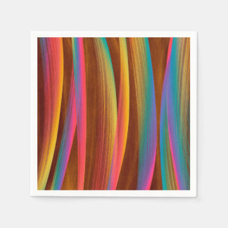 Trendy Colorful Abstract Art Disposable Napkins