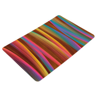 Trendy Colorful Abstract Art Floor Mat