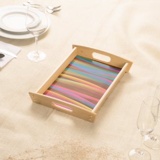 Trendy Colorful Abstract Art Serving Tray
