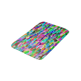 Trendy Colorful Abstract Background Bath Mat