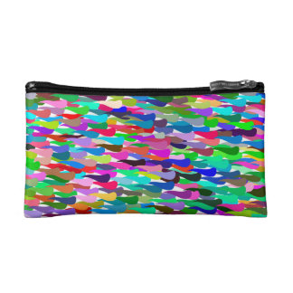 Trendy Colorful Abstract Background Cosmetic Bag