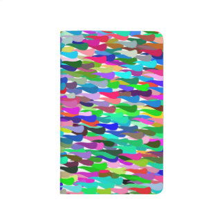 Trendy Colorful Abstract Background Journal