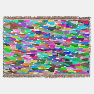 Trendy Colorful Abstract Background Throw Blanket