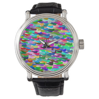 Trendy Colorful Abstract Background Watch