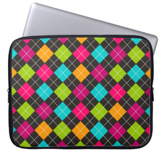 Trendy Colorful Argyle Pattern Laptop Sleeve