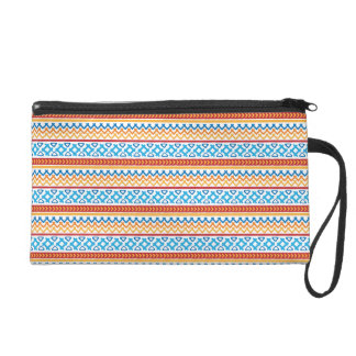 Trendy colorful Boho Pattern Wristlet Clutches