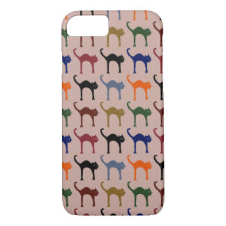 trendy colorful cats pattern-design iPhone 7 case
