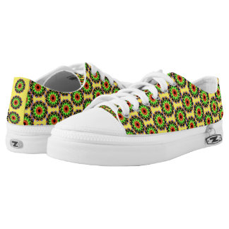 Trendy colorful circle pattern low tops