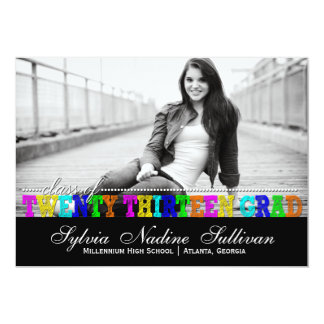 Trendy Colorful Class of 2013 Perseverance Grad Card