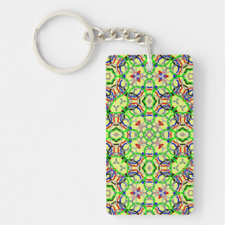 Trendy colorful decorative pattern keychains