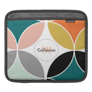 Trendy Colorful Geometric Personalized Design iPad Sleeve