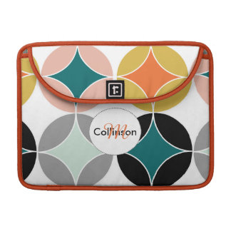 Trendy Colorful Geometric Personalized Design Sleeve For MacBook Pro
