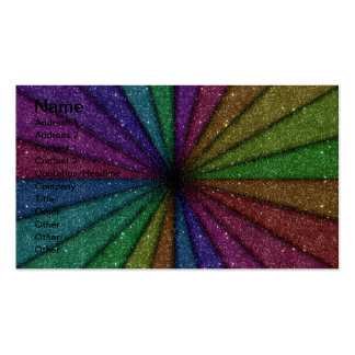 Trendy Colorful Glitter Explosion Pack Of Standard Business Cards
