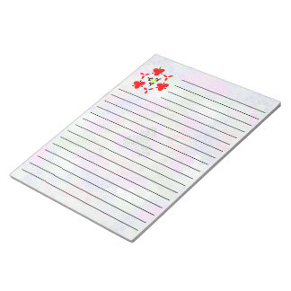 Trendy colorful mosaic pattern notepad