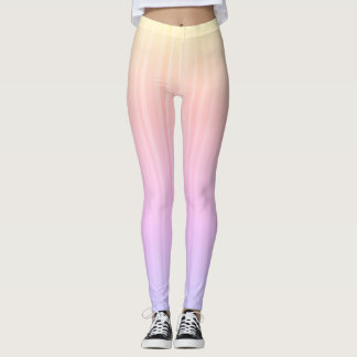 Trendy & Colorful Ombre Pastel Rainbow Leggings