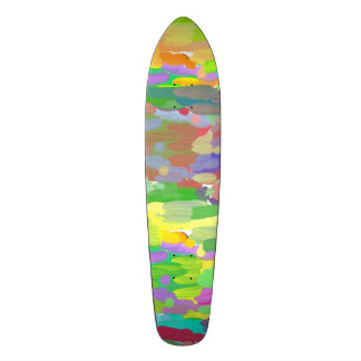 Trendy colorful pattern skate board deck