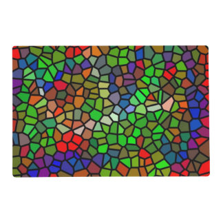 Trendy Colorful stained glass Laminated Place Mat