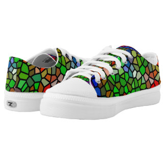 Trendy Colorful stained glass Low Tops