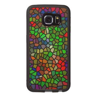 Trendy Colorful stained glass Wood Phone Case