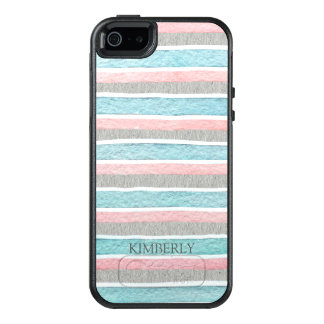Trendy Colorful Stripes OtterBox iPhone 5/5s/SE Case