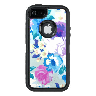 Trendy Colorful Summer Flowers Pattern OtterBox iPhone 5/5s/SE Case