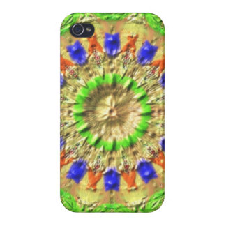Trendy colorful texture pattern iPhone 4 case