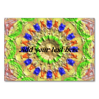 Trendy colorful texture pattern table cards
