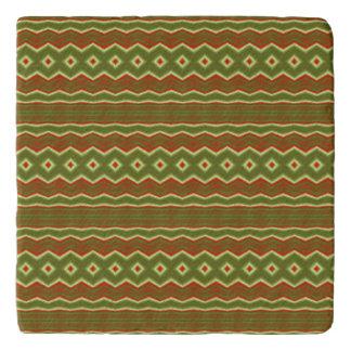 Trendy colorful tribal pattern trivet