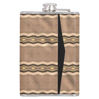 Trendy colorful vertical pattern hip flask