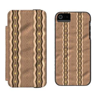 Trendy colorful vertical pattern incipio watson™ iPhone 5 wallet case