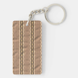 Trendy colorful vertical pattern Double-Sided rectangular acrylic keychain