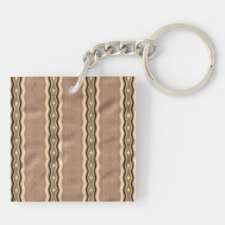 Trendy colorful vertical pattern square acrylic key chain