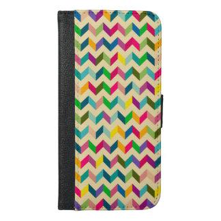 Trendy colourful chevron wallet case