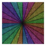 Trendy Colourful Glitter Explosion Photographic Print