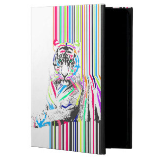 trendy colourful vibrant neon stripes tiger pain powis iPad air 2 case