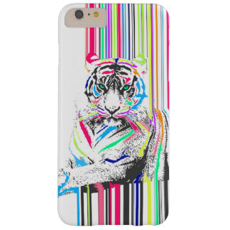 trendy colourful vibrant neon stripes tiger paint barely there iPhone 6 plus case