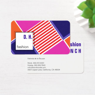 Trendy colours Business Card