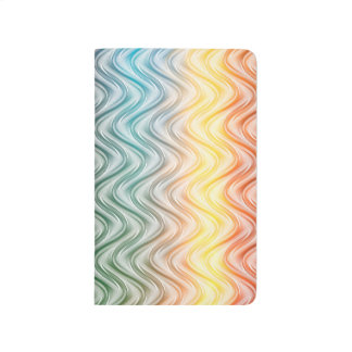 Trendy Cool Colors Abstract Art Journal