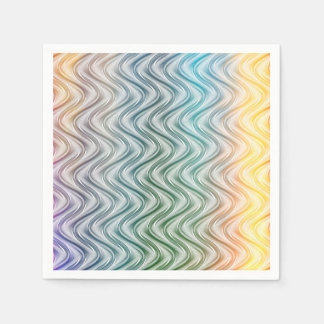 Trendy Cool Colors Abstract Art Paper Napkin