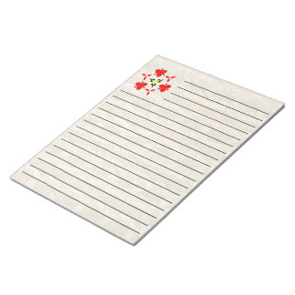 Trendy cool paper pattern notepad