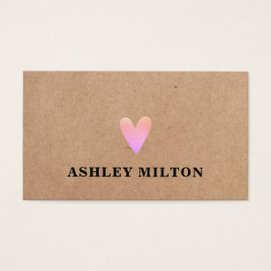 Kraft business cards business card printing zazzle uk trendy cool rose printed kraft paper heart beauty business card reheart Image collections
