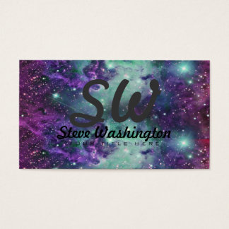 Trendy Cool Sparkly New Nebula Design Business Card