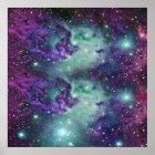 Trendy Cool Sparkly New Nebula Design Poster
