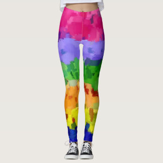 Trendy Cool Watercolor Splash Leggings