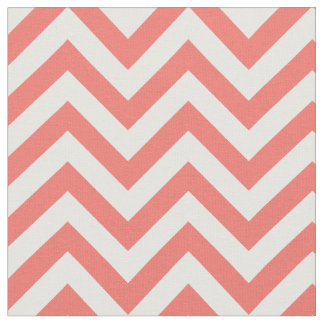 Trendy Coral Chevron Pattern Fabric
