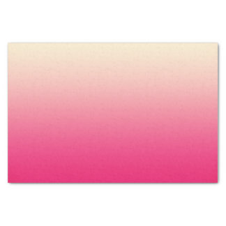 Trendy Coral Pink to Vintage White Ombre Gradient Tissue Paper
