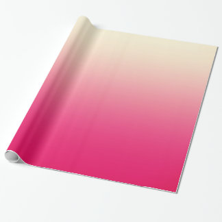 Trendy Coral Pink to Vintage White Ombre Gradient Wrapping Paper
