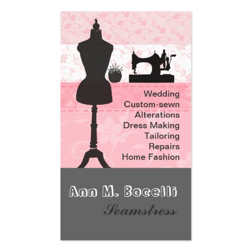 Trendy Crafts Sewing Fashion Business Card Templates