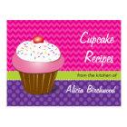 Trendy Cupcake Recipe Postcard