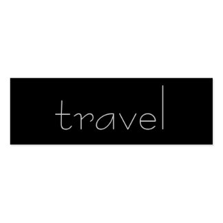 Trendy Cute Chic Plain Travel Agent Business Card
